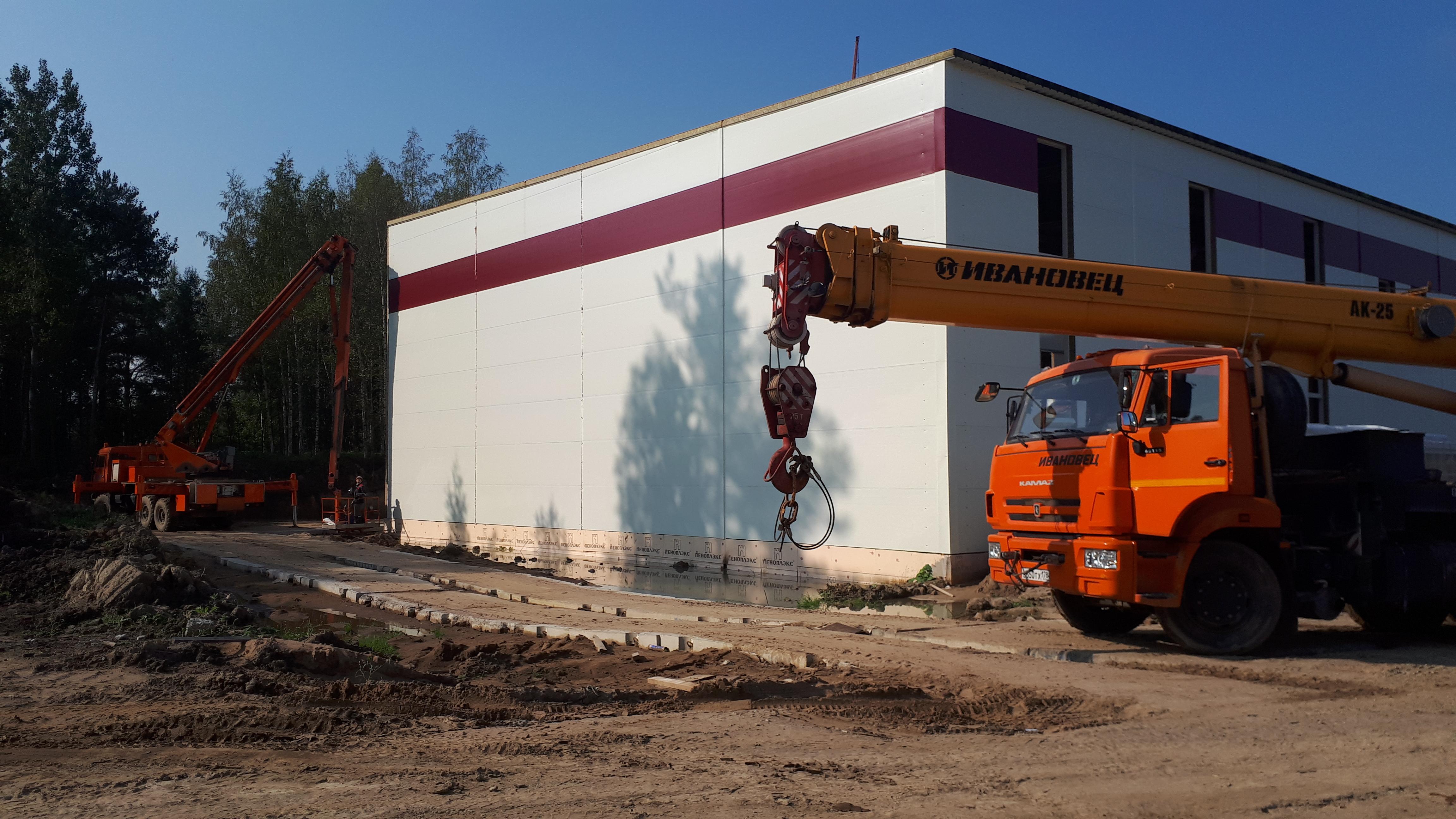 строительство Строительство комплекса по производству сухих пищевых смесей в Ломоносовском районе. компания севзапстальконструкция . сзск