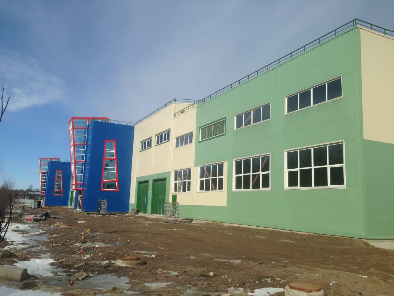 строительство Промышленно-складской комплекс в п. Кузьмоловский