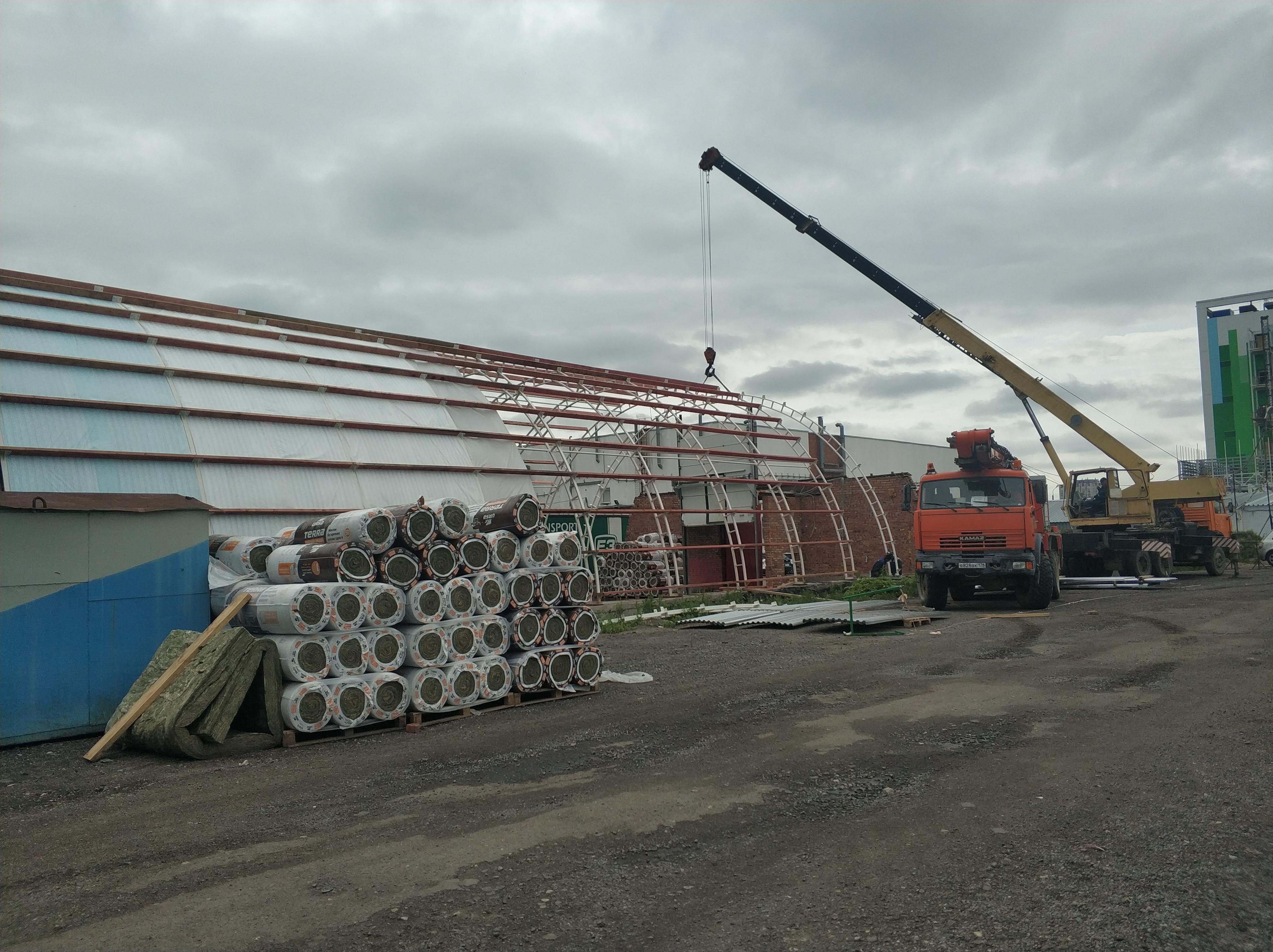 строительство ангара на ул. Фучика